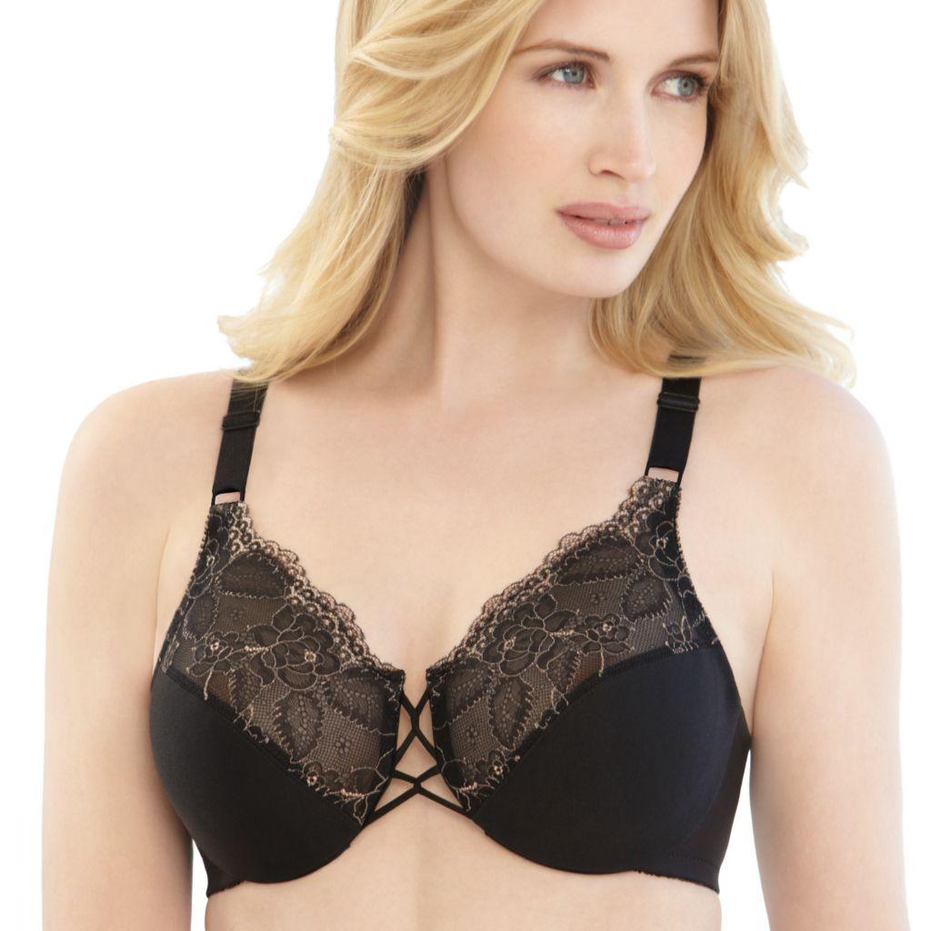 720-524 - Glamorise Elegance Lace Full-Figure Underwire Bra