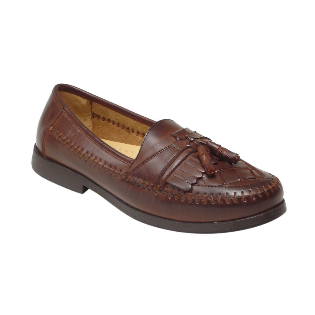 720-585 - Deer Stags Men's Leather Tassel Loafers