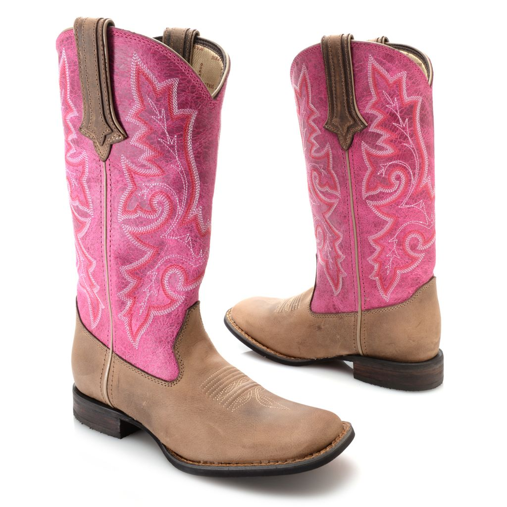 720-696 - Durango Leather Pull-on Western-Style Knee-High Boots