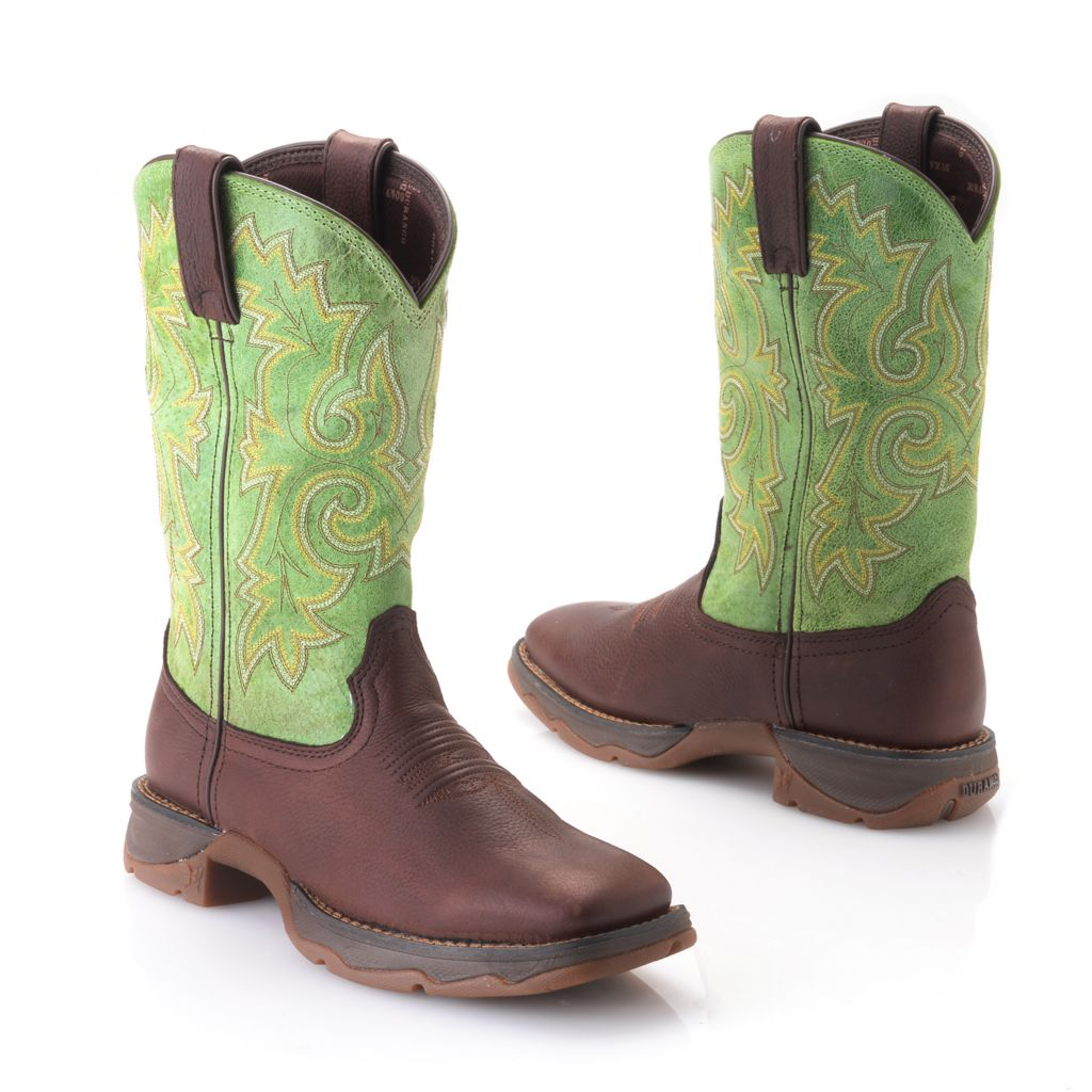 720-705 - Durango Leather Pull-on Western-Style Mid-Calf Boots