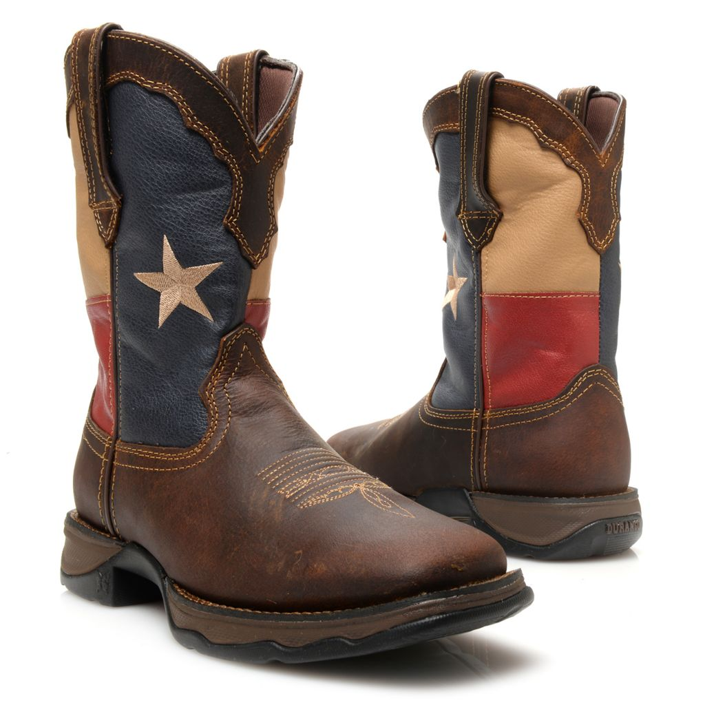 720-706 - Durango Leather Flag Design Western-Style Mid-Calf Boots