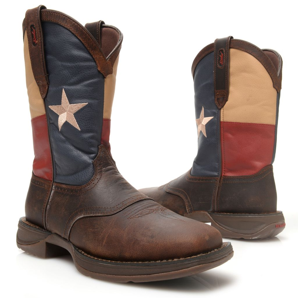 720-713 - Durango Men's Leather Flag Design Western-Style Mid-Calf Boots