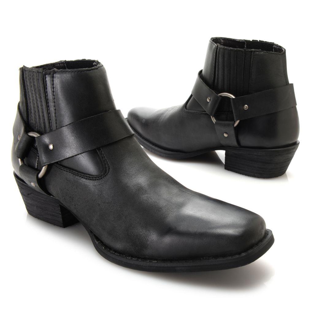 720-714 - Durango Men's Leather Harness Detailed Short Boots