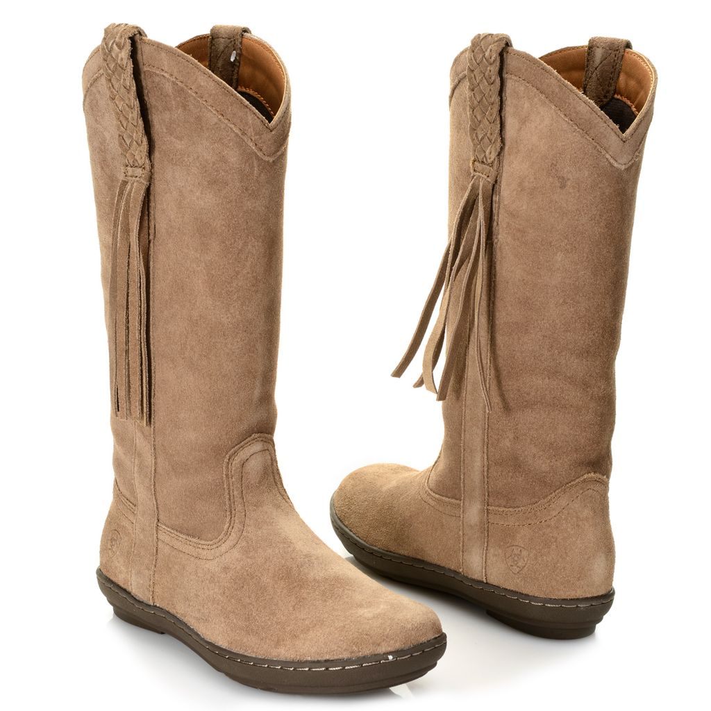 720-720 - Ariat® Sueded Leather Fringe Detailed Knee-High Boots