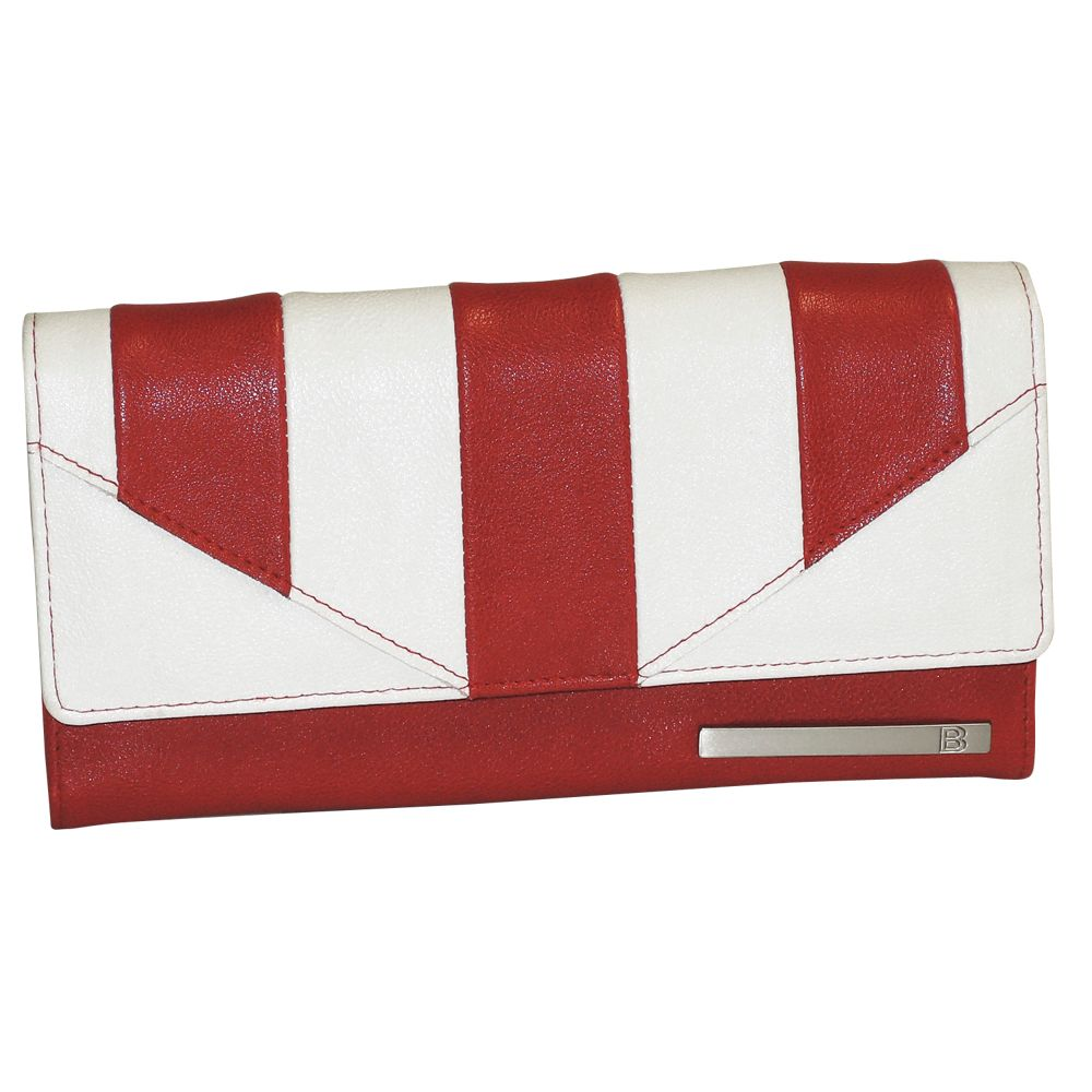 720-912 - Buxton Pebble Finished Striped Flap-over Envelope Wallet