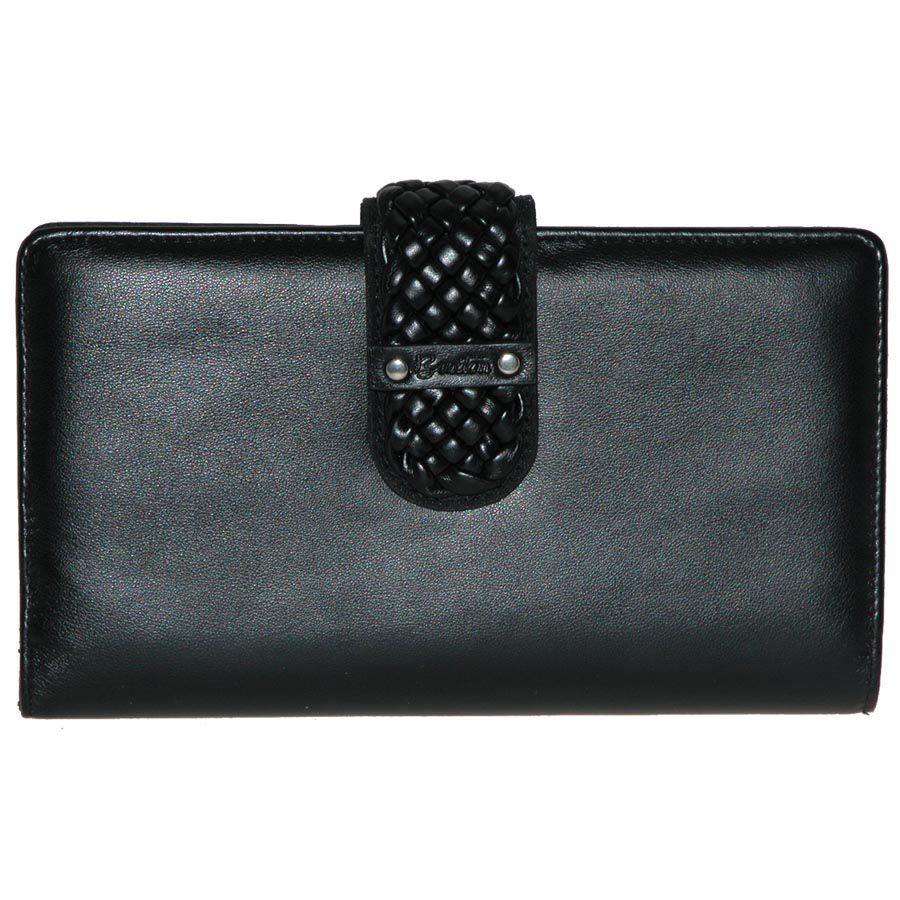720-914 - Buxton Braided Flap-over Belt Wallet