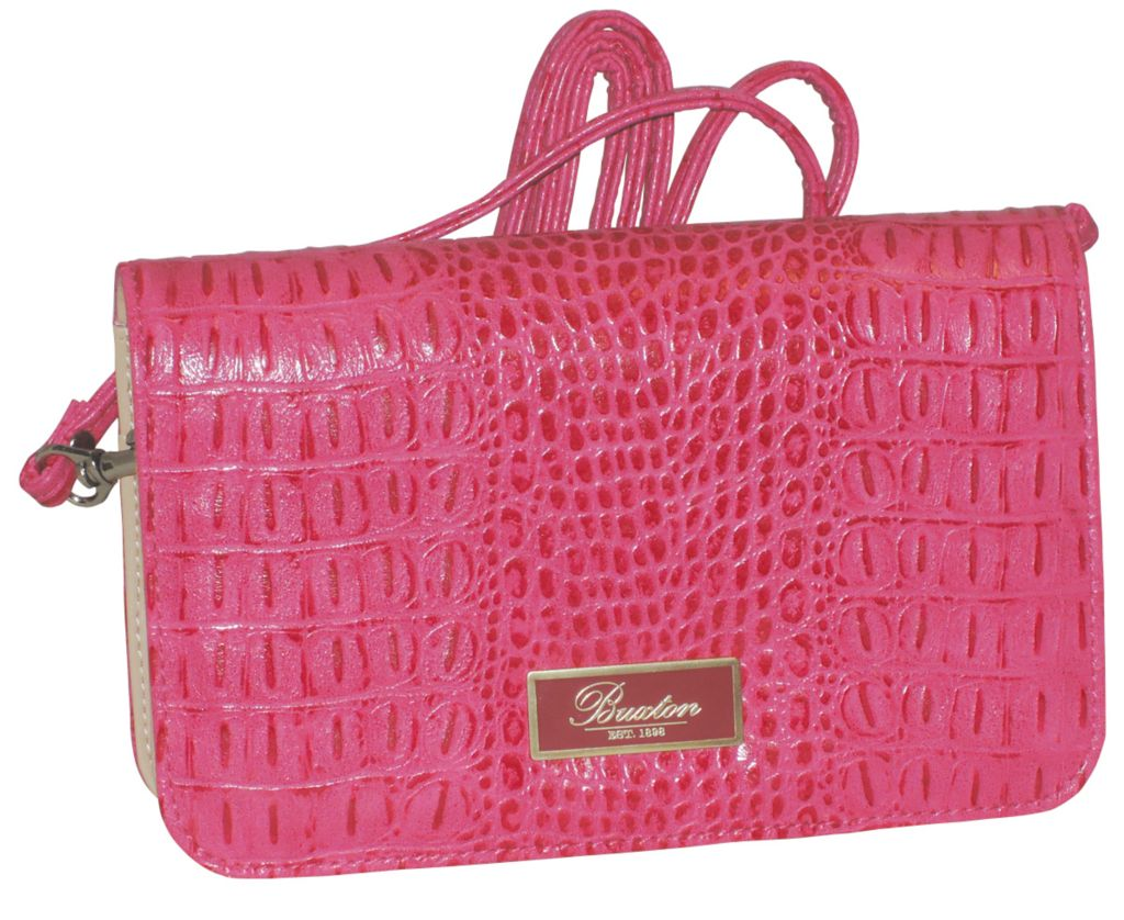 720-917 - Buxton Croco Embossed Mini Bag w/ Removable Strap