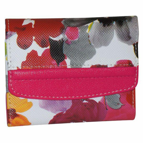 720-918 - Buxton Floral Printed Mini Tri-Fold Wallet