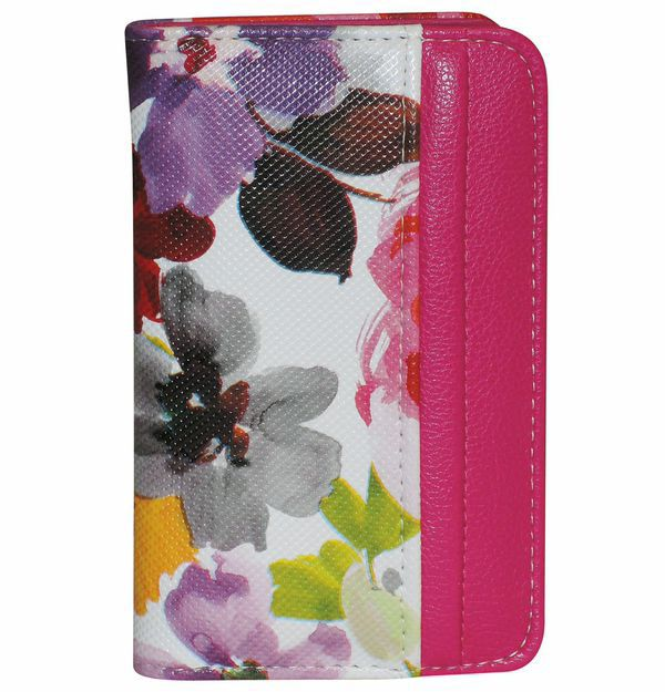 720-919 - Buxton Floral Printed Card Organizer Wallet