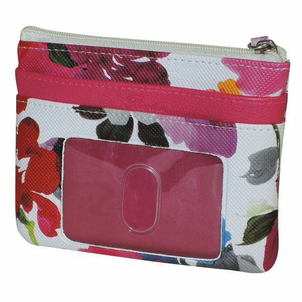 720-921 - Buxton Floral Printed Small Zip Top Coin / Card Wallet