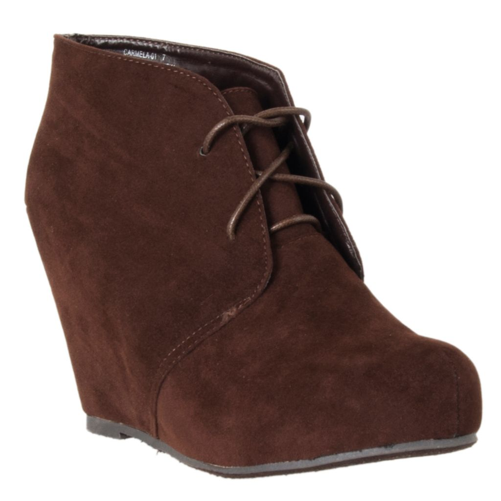 721-055 - Riverberry Womens Carmela Microsuede Hidden Wedge Booties