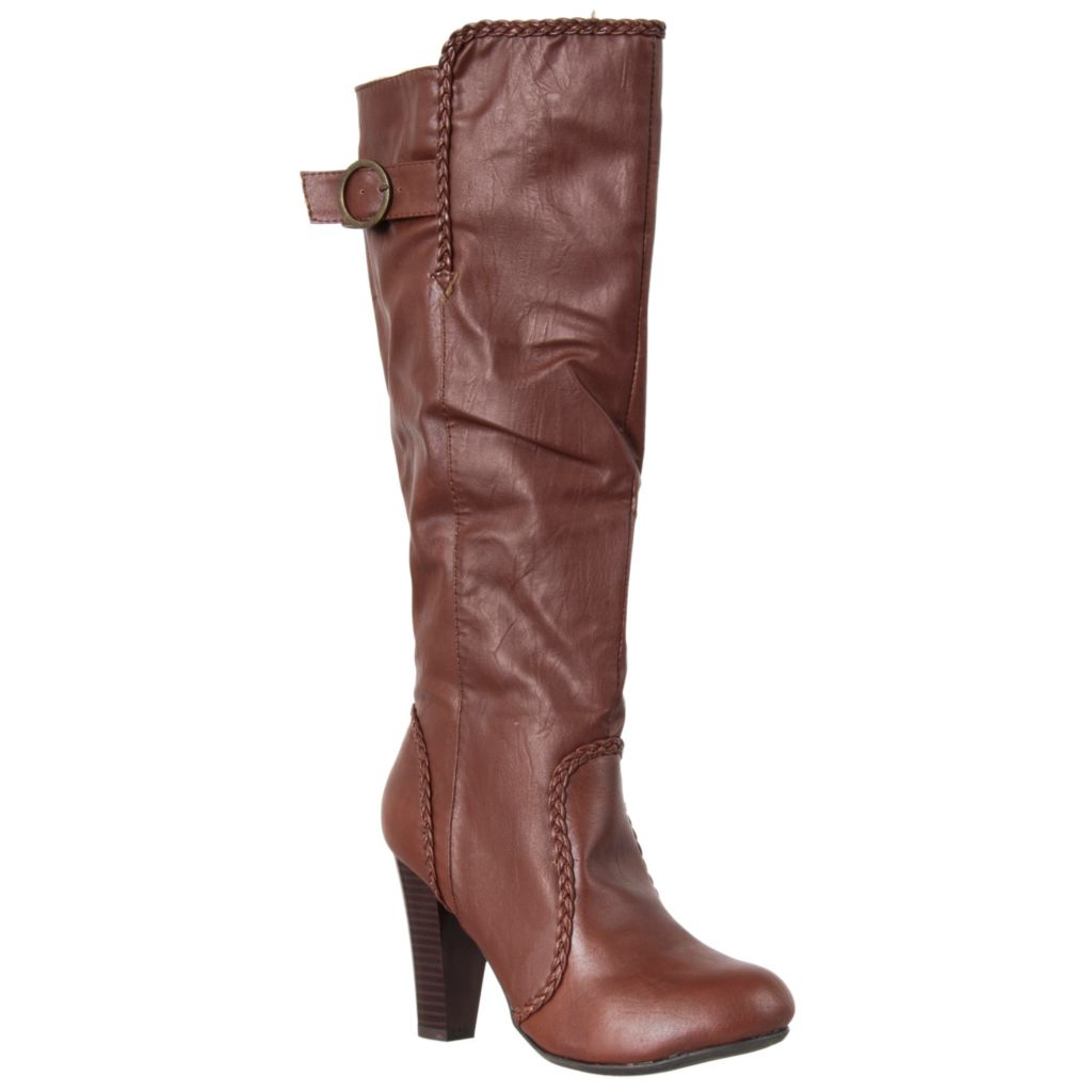 721-056 - Riverberry Womens Chrissy Braid Trimmed High Heel Fashion Boots