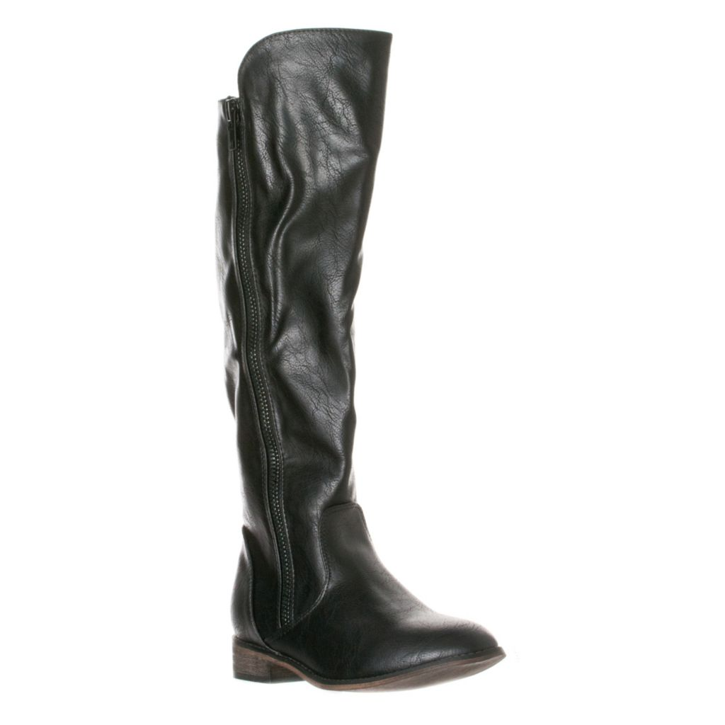 721-059 - Breckelle's by Riverberry Clayton-12 Zipper Detailed Knee High Riding Boots