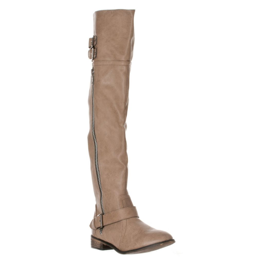 721-060 - Breckelle's by Riverberry Clayton-14 Zipper Detailed Thigh High Riding Boots