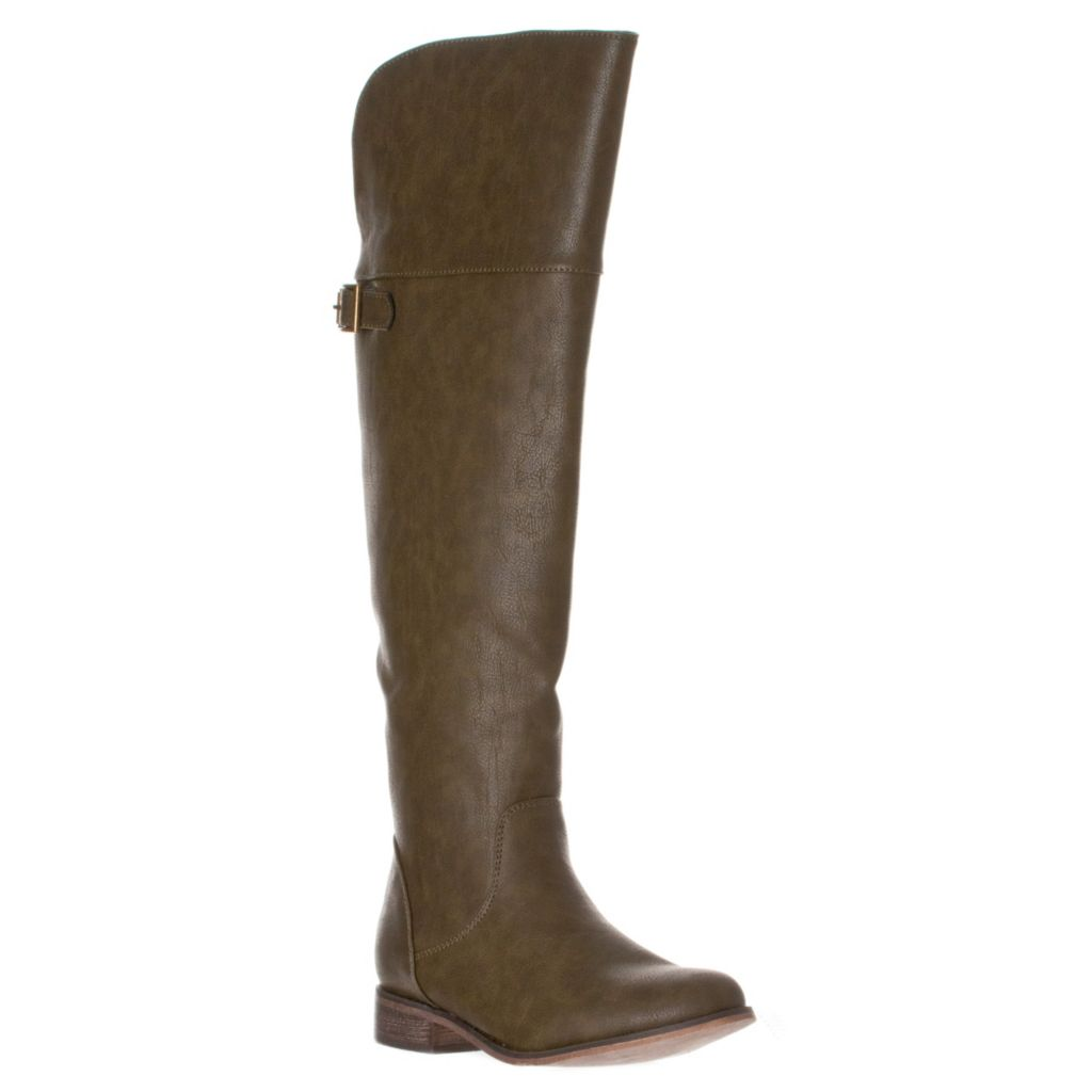 721-086 - Breckelle's by Riverberry Women's Round Toe Buckle Riding Boots