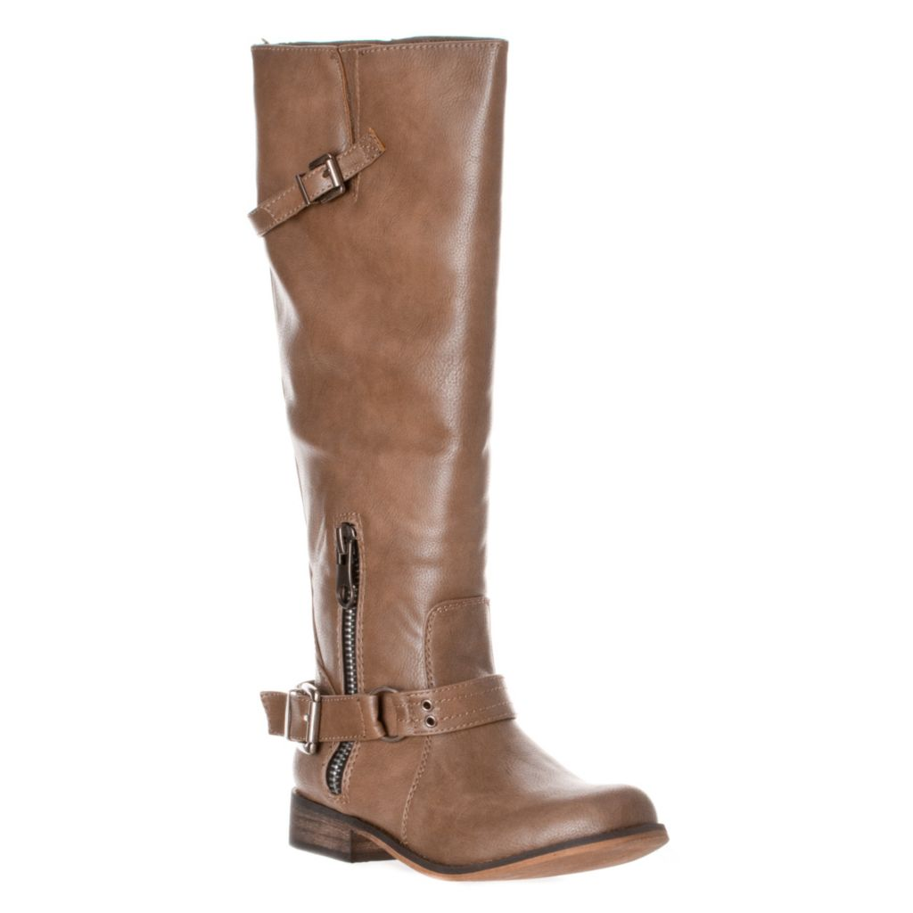 721-090 - Breckelle's by Riverberry Women's Buckle Detail Knee-High Boots