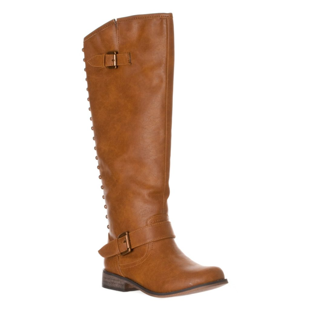 721-091 - Breckelle's by Riverberry Women's Knee-High Studded Riding Boots