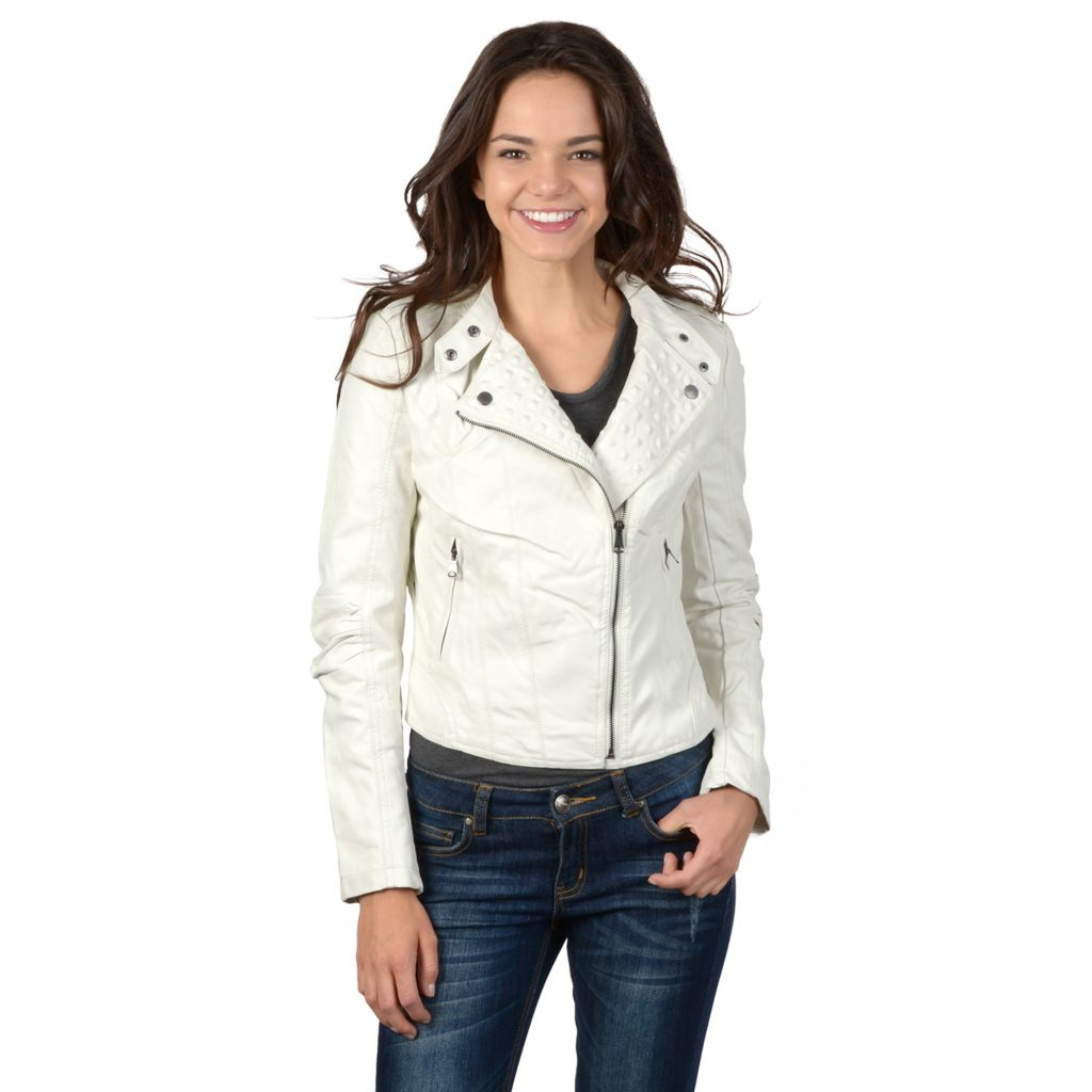 721-364 - Hailey Jeans Co. Junior's Faux Leather Studded Jacket