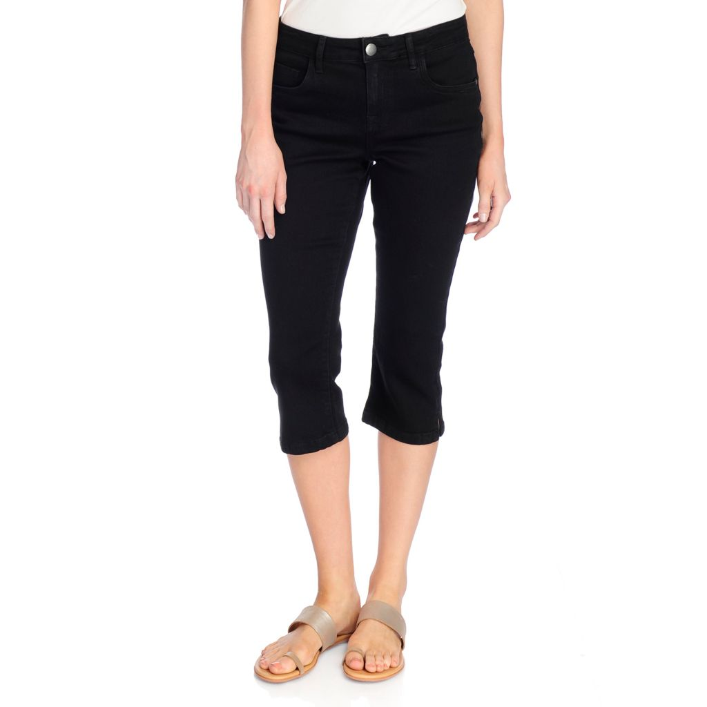 One World Stretch Denim 5-Pocket Skinny Leg Capris