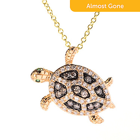 Effy 14k gold diamond animal pendant w 18 cable chain 156 420 effy 14k gold diamond animal pendant w 18 cable chain mozeypictures Images