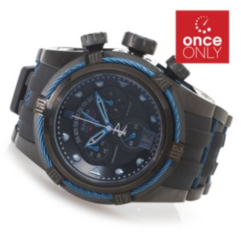 626-445 - Invicta Reserve 53mm Jason Taylor Bolt Zeus Limited Edition Strap Watch w/ Three-Slot Dive Case