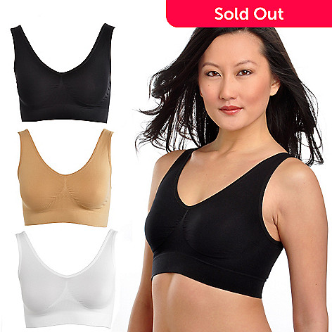 000-047 - Comfortisse™ Perfect Fit Set of Three Basic Color Seamless Bras