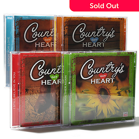 000-519 - Time Life® Music ''Country's Got Heart'' Eight-Disc 124-Song CD Collection
