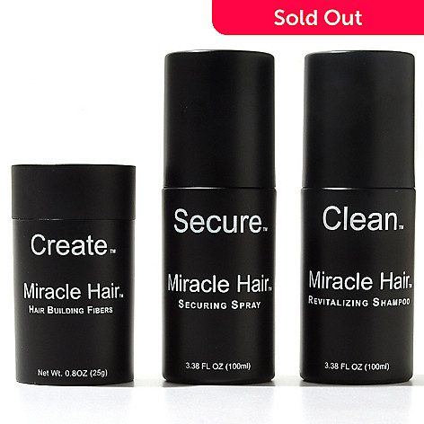 000-692 - Miracle Hair™ Three-Piece Hair Thickening Kit w/ Bonus Application Tool