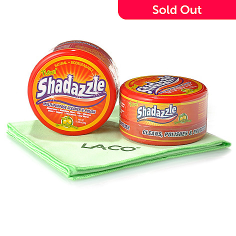 000-730 - Shadazzle™ Set of Two Multi-Purpose Cleaner & Polish w/ Polishing Cloth
