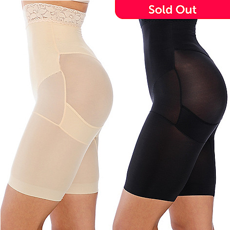 000-790 - Slim 'N Lift AIRE™ Set of Two Tummy-to-Thigh Shaping Shorts