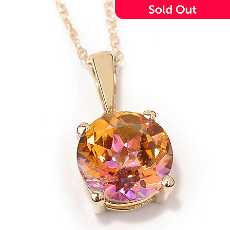 100-237 - 14K Gold Gemstone Choice Kellie Anne Pendant w/ Chain