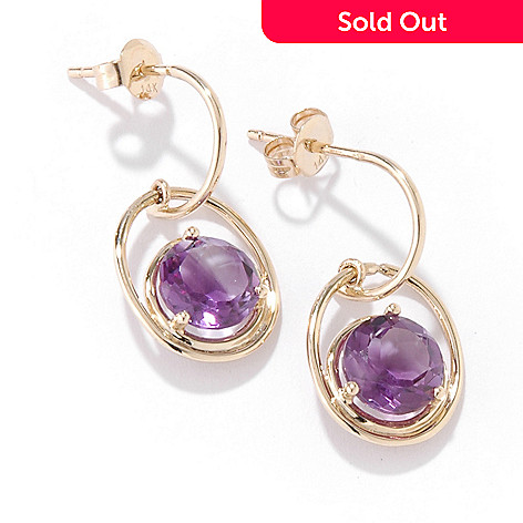 100-417 - 14K Gold Gemstone Choice ''Twist on the Kellie Anne'' Earrings