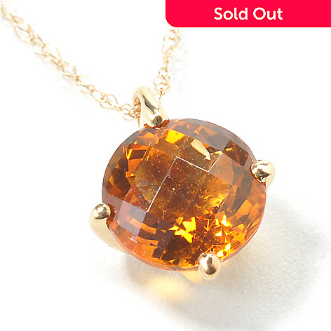 100-683 - 14K Gold Gemstone Choice Kellie Anne Sweet 16 Pendant w/ Chain