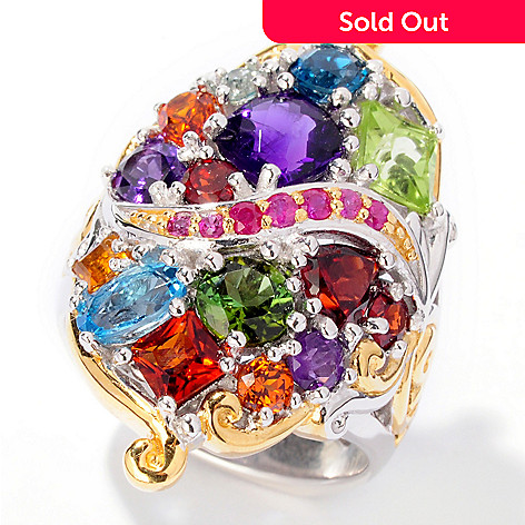 101-190 - Gems en Vogue II 4.29ctw ''Theater District'' Multi-Gemstone Ring