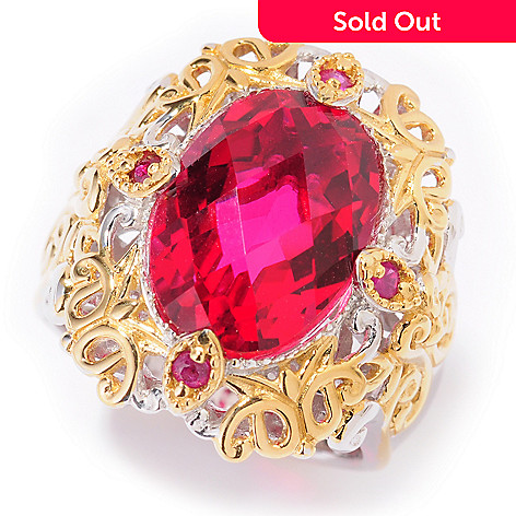 101-203 - Gems en Vogue 6.42ctw Quartz Doublet & Ruby Ring