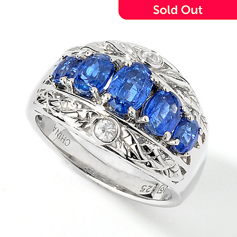 101-227 - NYC II 1.9ctw Kyanite & White Zircon Ring