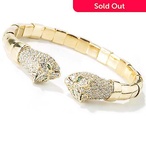 101-249 - Sonia Bitton 4.20 DEW Simulated Diamond Panther Flex Bracelet