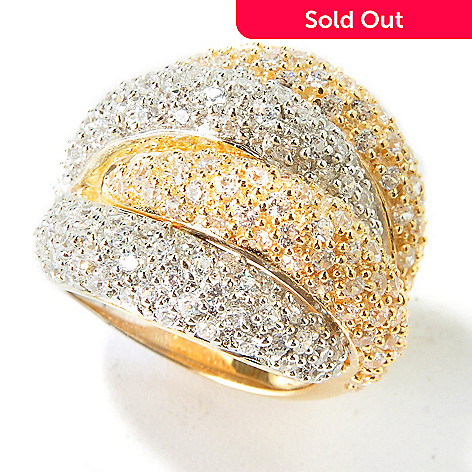 101-252 - Sonia Bitton for Brilliante® Platinum & Gold Embraced Overlapping Dome Ring
