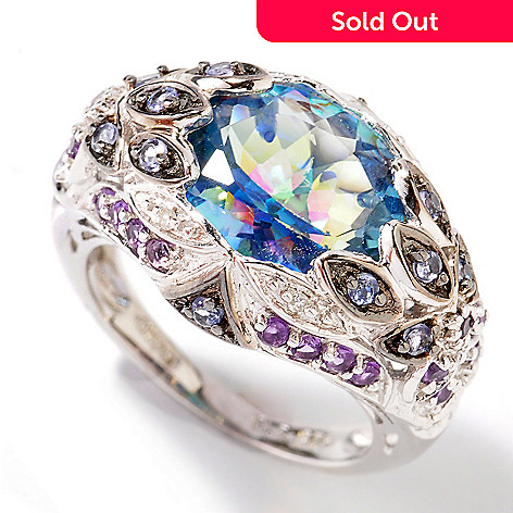 107-028 - NYC II Exotic Topaz & Multi-Gemstone ''Peacock'' Ring