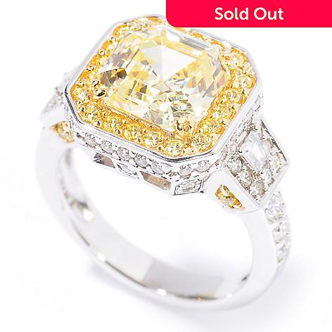 111-801 - Brilliante® Platinum Embraced™ 3.97 DEW Simulated Diamond Halo Ring