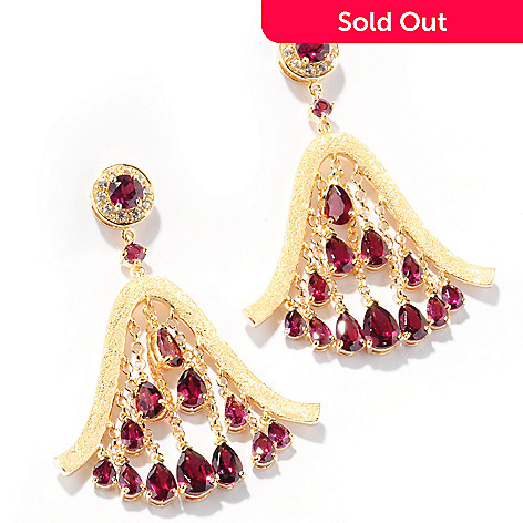 112-734 - Omar Torres 8.46ctw Brazilian Garnet ''Cleopatra'' Earrings