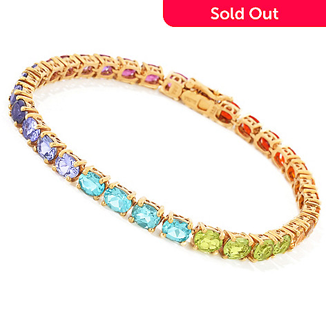 112-856 - NYC II™ Exotic Rainbow Multi Gemstone Tennis Bracelet