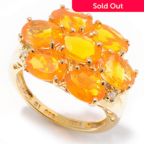 112-858 - NYC II 3.72ctw Fire Opal & White Zircon Ring