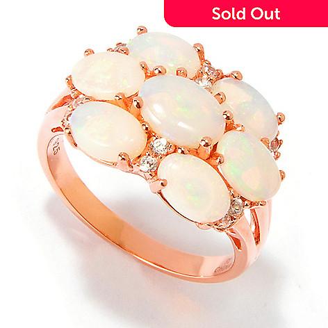 112-860 - NYC II 2.46ctw Australian Opal & White Zircon Ring