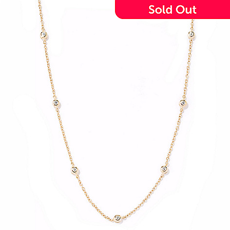 113-319 - Sonia Bitton 36'' 1.76 DEW Bezel Set Simulated Diamond Station Necklace