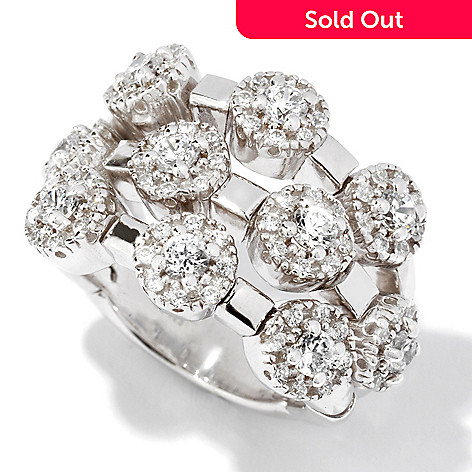113-350 - Sonia Bitton for Brilliante® Signature Three-Row Dream Fit™ Ring
