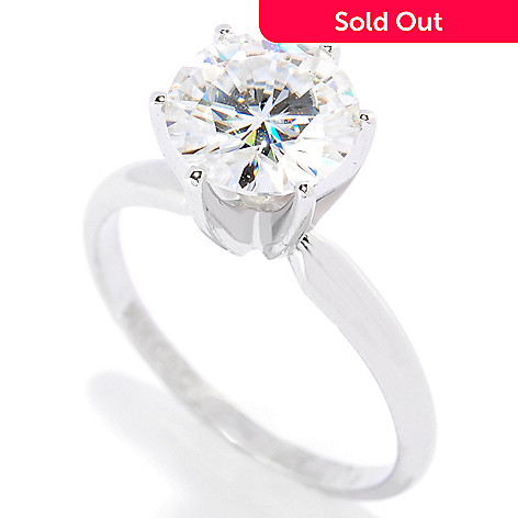 113-451 - Forever Brilliant Moissanite 14K Gold 1.90 DEW Six-Prong Solitaire Ring