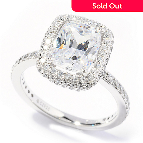 113-480 - Brilliante® Platinum Embraced™ 3.57 DEW Simulated Diamond Halo Ring