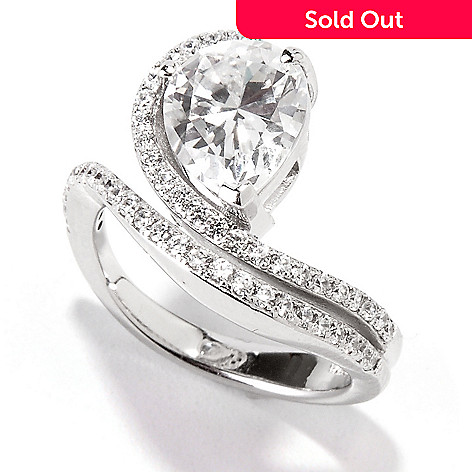 113-914 - Brilliante® Platinum Embraced™ 2.95 DEW Simulated Diamond Pave Swirl Ring