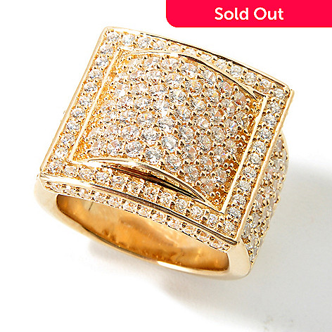 114-005 - Sonia Bitton For Brilliante 2.75ctw DEW Pave Buckle Ring